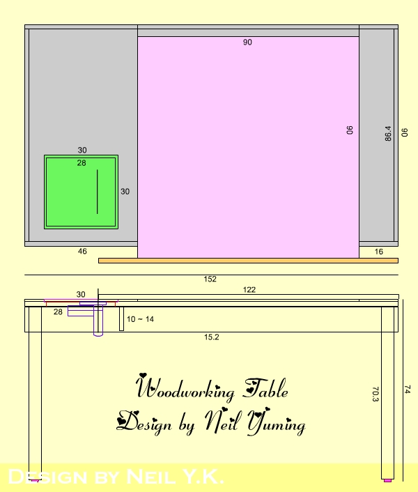 木工裁桌设计图